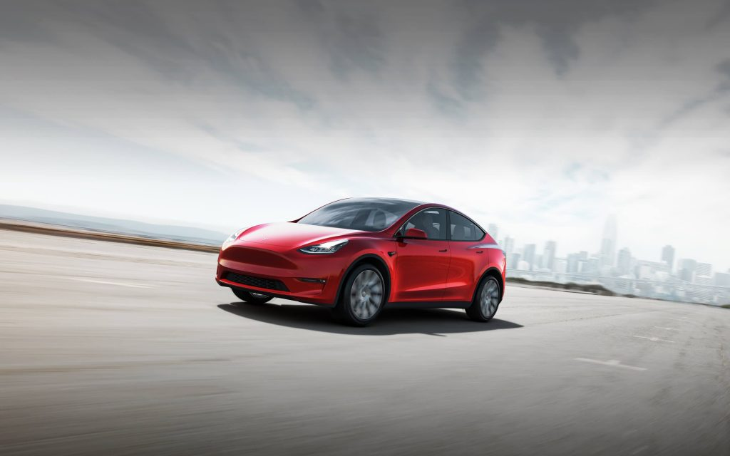 New 2020 Tesla Model Y Red Color - Upcoming 2020 SUV in Australia