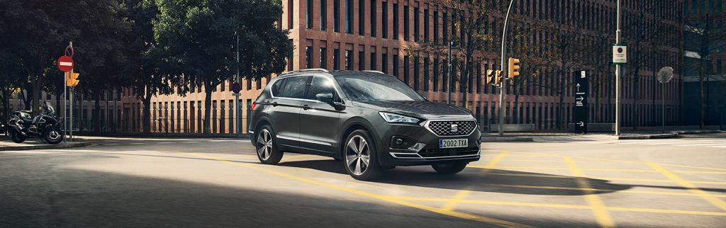 New SEAT Tarraco SUV 7 seater front view of car