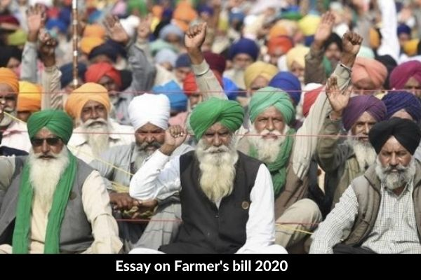 Essay on Farmer's bill 2020